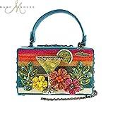 MARY FRANCES Beach Party Sunset Martini Beaded Handbag