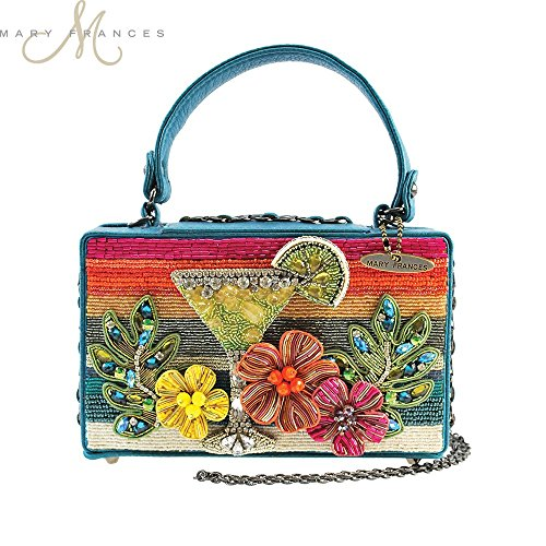 MARY FRANCES Beach Party Sunset Martini Beaded Handbag by Mary Frances