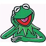 """Aufnäher Bügelbild Iron on Patches Applikation """" Kermit der Frosch """""""