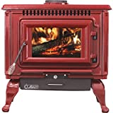 Ashley XL Porcelain Enamel Wood Stove — Red, 89,000 BTU, EPA Certified, Model# AWC31R