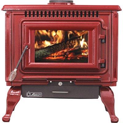 (Ashley XL Porcelain Enamel Wood Stove — Red, 89,000 BTU, EPA Certified, Model# AWC31R)