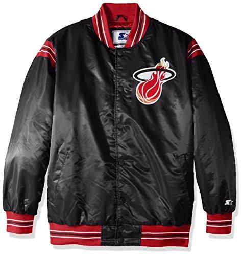 - STARTER NBA Miami Heat Men's The Enforcer Retro Satin Jacket, Large, Black