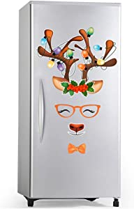 D-FantiX Reindeer Refrigerator Magnets Set of 20, Cute Fun Holiday Magnets for Fridge Dishwasher Christmas Magnets Garage Door Christmas Decorations