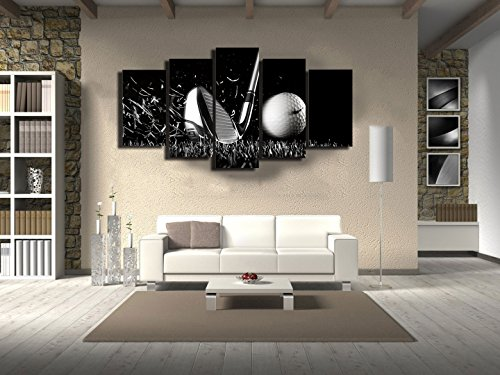 Canvas Paintings Printed Golf Life black and white Wall Art Canvas Scenery Pictures For Living Room Home Wall Decor With Framed -