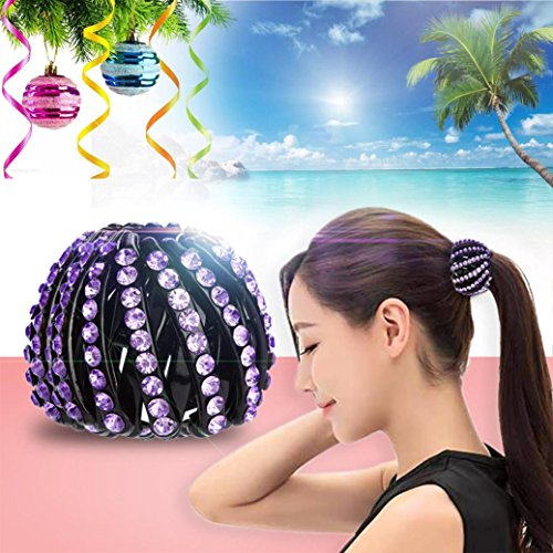 - Botrong Punk Gothic Fake Plastic Hair Cuff Ponytail Clip Tie Holder Hair Band (C, S)