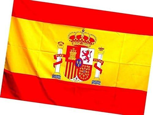 Bandera de España Grande 140X90 CM. ENVÍO RÁPIDO DESDE ESPAÑA. Bandera de gran tamaño, para colgar en el balcón, llevar por la calle o apoyar a la selección española de fútbol: Amazon.es: