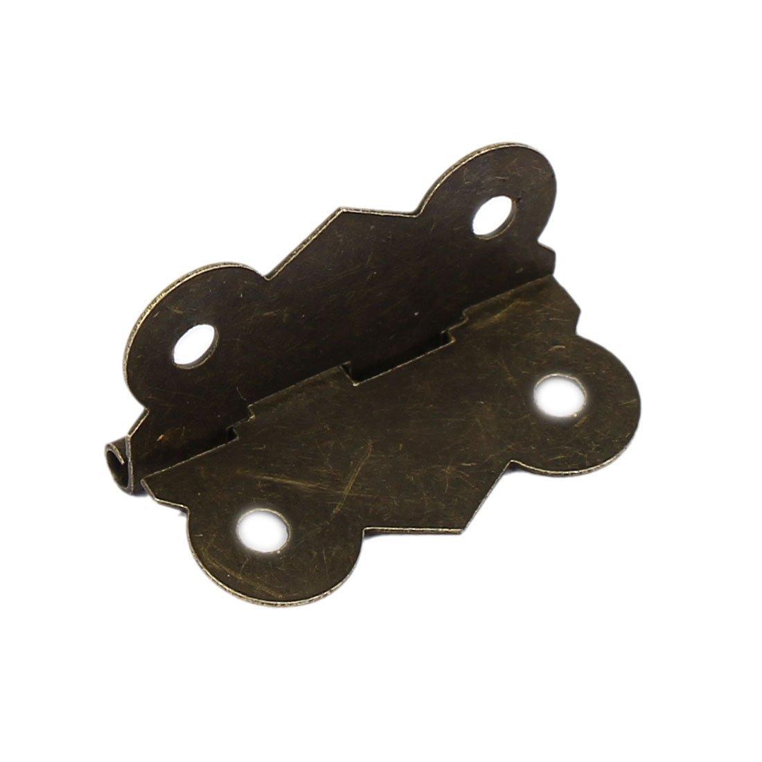 eDealMax caso di legno 30 millimetri lungo retrò stampa stile Cuscinetto Cerniera tono del bronzo 50pcs by eDealMax