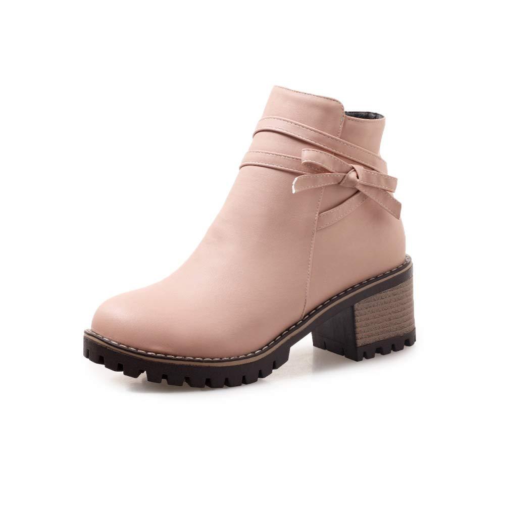QINGMM Frauen Martin Stiefel 2018 Herbst Winter Block Ferse Ankle Stiefel Größe 40-43 B07JZB21DD Sport- & Outdoorschuhe Kaufen
