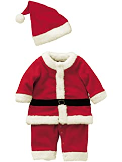 7e43a314e2f57 Abolai Baby Boys Santa Romper Costume with Hat for Infant and Toddler  Christmas Costumes