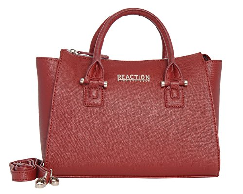 Kenneth Cole Reaction KN1550 Magnolia Handbag Top Handle Messenger Crossbody Shoulder Bag (CARDINAL)