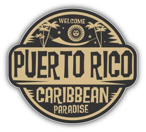 Puerto Rico Caribbean Paradise Vinyl Sticker Decal Outside Inside Using for Laptops Water Bottles Cars Trucks Bumpers Walls, 5