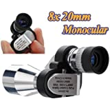 8X20 Mini Compact Pocket Monocular Telescopes Glass Scop 96/1000m+BAG