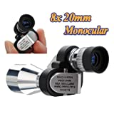 8X20 Mini Compact Pocket Monocular Telescopes Glass Scop 96/1000m+BAG