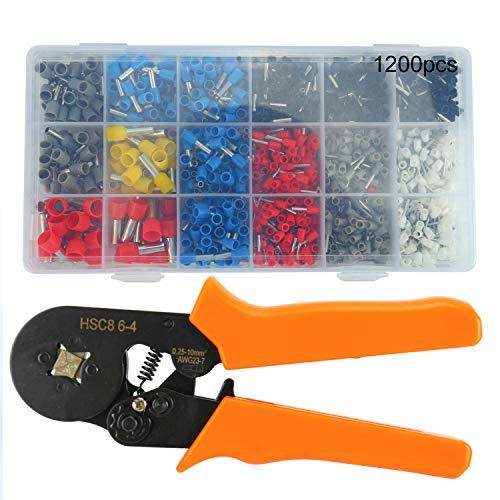 Self Adjusting Ratcheting Ferrule Crimper Plier HSC8 6-4A 0.25-6mm² AWG23-10