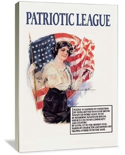 Patriotic League 32'' x 48'' Gallery Wrapped Canvas Wall Art by ArtsyCanvas (Image #3)