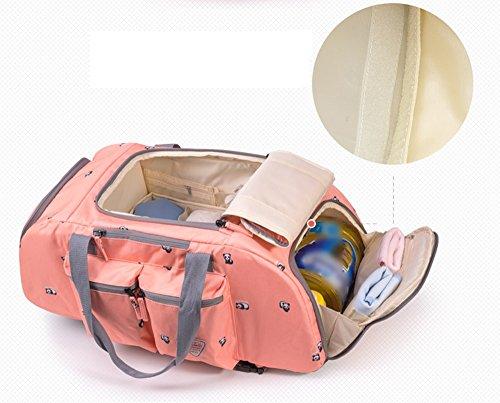 Bolso de la momia del recorrido, bolso multi-funcional de la madre de los hombros de la capacidad grande, bolsos maternos y del niño, mujeres embarazadas van backpack ( Color : Azul ) Azul