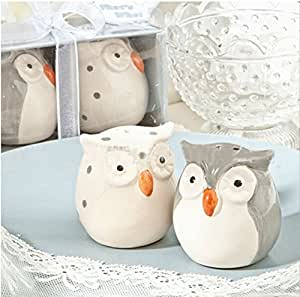 Cute owl salt and pepper shakers Wedding Party Favor Gift , Set of 48