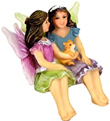 The Adorable Garden Fairy Sisters Alice & May will add a perfect touch of truly Lifelike Charm to your Magical Fairy Garden. They'll make any of the hidden Fairies and Gnomes in your garden feel Most Welcome, as they sit relaxing and havi...