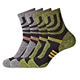 Men Women Hiking Socks Thick Warm Winter Outdoor Quick Dry Crew Sock for Running Mountain Climbing (2-Pack)