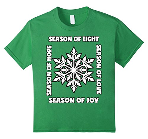 Kids Family Matching Christmas TShirts Outfit Season Of Light 6 Grass