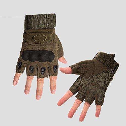QIDI-gants De Sport Saison D'été Demi-doigt Homme Antidérapant Résistant À L'usure Gants De Fitness (Couleur : Vert, taille : Xl)