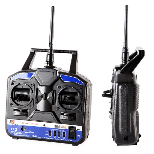 Kingzer FS-T4B 2.4G 4CH Radio Control RC Transmitter & Receiver for Helicopter Airplane