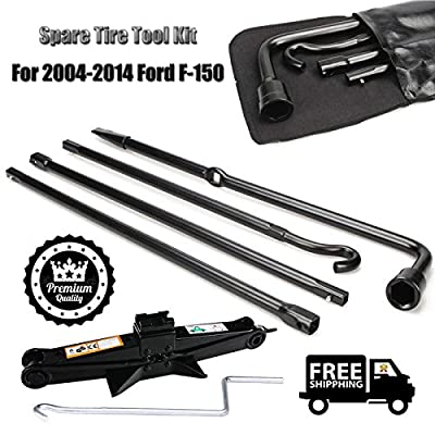 Portable Spare Tire Tools Kit Lug Wrench and 2 Ton Scissor Jack with Handle For 2004-2014 Ford F-150