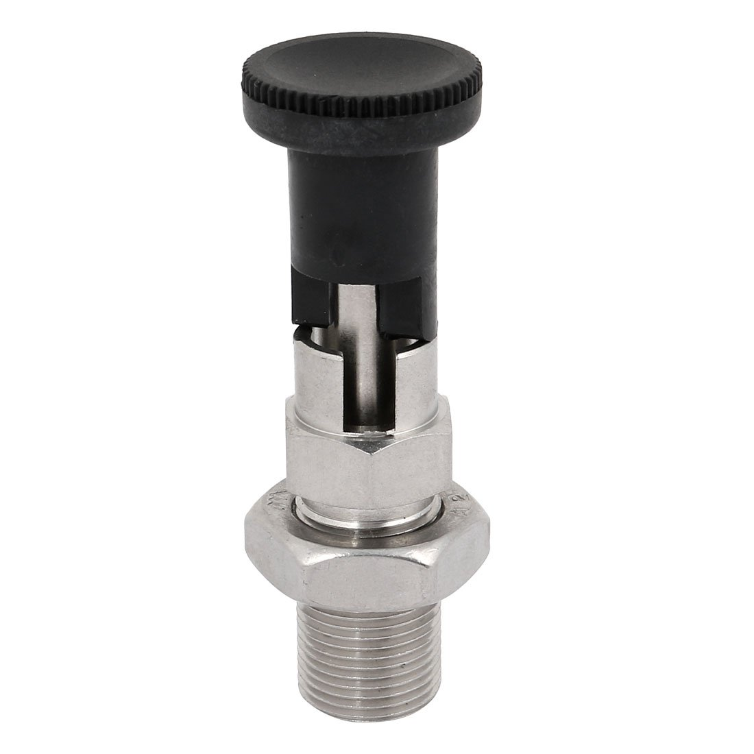 uxcell M20 Thread 6mm Pin Dia Stainless Steel Lock-Out Type Indexing Plunger w Lock Nut