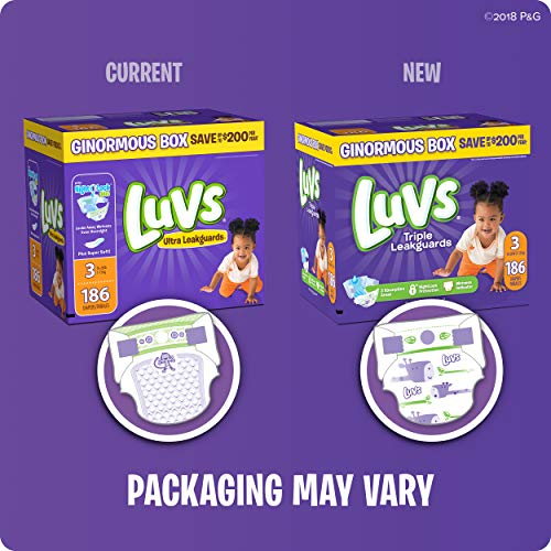 Luvs Ultra Leakguards Disposable Baby Diapers Newborn Size 1, 252 Count, ONE MONTH SUPPLY