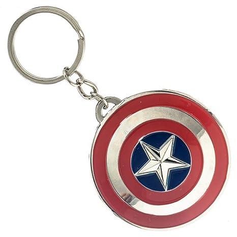 Marvel Capitán América es escudo llavero de Metal: Amazon.es ...