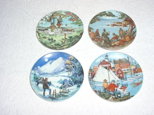 Set of 4 Avon American Portraits Plates