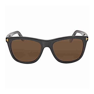 2bc28658051 Image Unavailable. Image not available for. Color  Tom Ford FT0500 01H  Shiny Havana Andrew Square Sunglasses ...