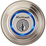 Kwikset Kevo (1st Gen) Touch-to-Open Bluetooth Smart Lock, Works with Amazon Alexa via Kevo Plus, in Satin Nickel