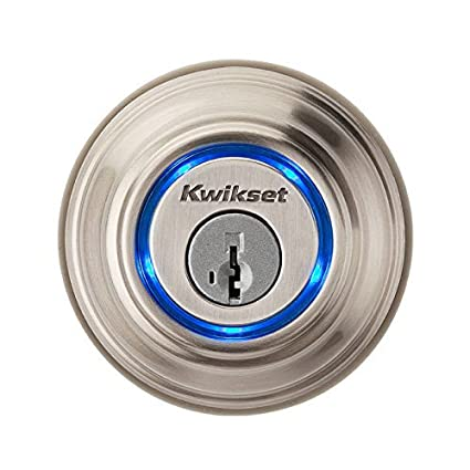 Kwikset Kevo Smart Lock with Keyless Bluetooth Touch to Open Convenience in  Satin Nickel 51ceec47a1