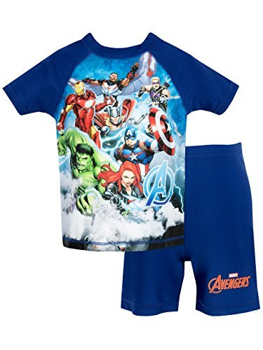 Marvel Avengers Boys' Avengers Two Piece Swim Set 2T -