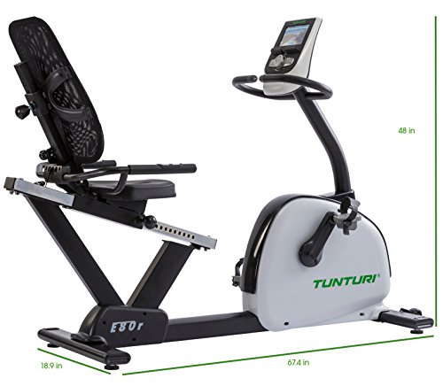 Tunturi E80-R Endurance Series Recumbent Exercise Bike