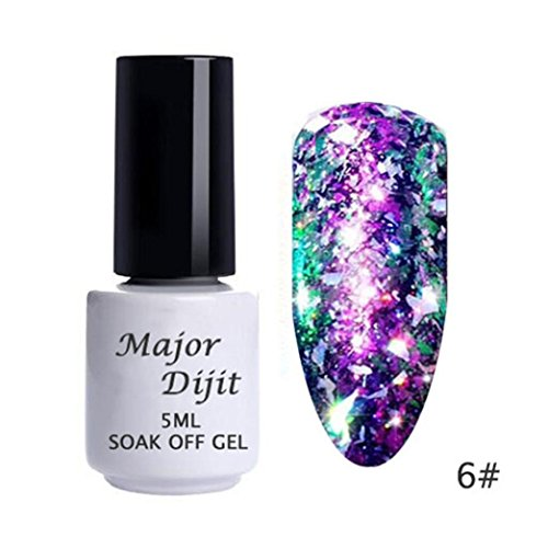 Aluminum Flakes Galary Holo Sequins DIY Polish UV Gel ()
