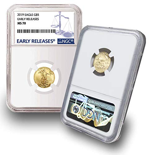 2019 1/10 oz Gold Eagle G$5 MS70 NGC Early Releases