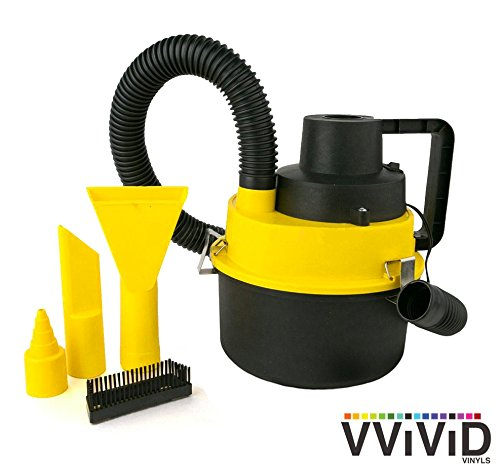 VViViD REV Mini Automotive 1 Gallon Portable Canister Wet Dry Vacuum Cleaner
