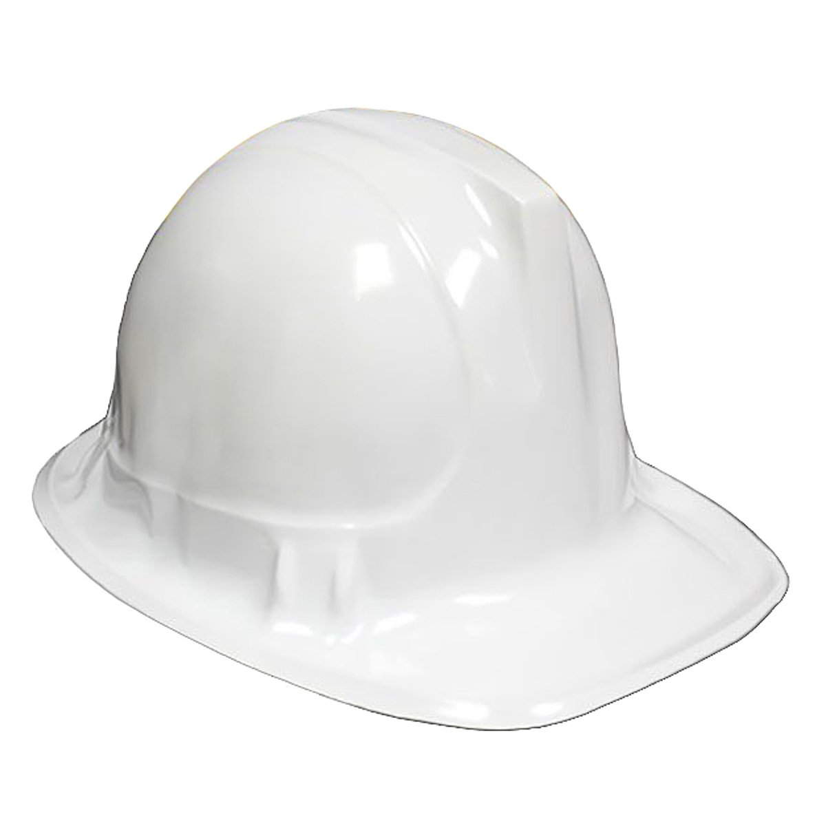 WHITE Kid's Plastic Miner Construction Hard Hats Set Of 12