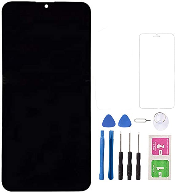 Amazon Com Replacement Lcd Screen Part For Samsung A20 2019 Lcd Display Touch Screen Digitizer Assembly With Tempered Glass And Tools Black