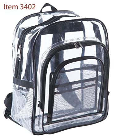 Amazon.com : Clear Backpack. Extra large Clear Backpack, see ...