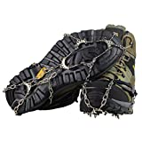 YUEDGE 10 Teeth Universal Anti Slip Ice Cleats Shoe Boot Grips Crampon Snow Spikes Ice grippers Traction Cleats