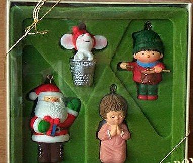 Rare!! 1978 Hallmark Little Trimmer Ornament Ensemble Set of 4 Hallmark Ornaments 900QX1323