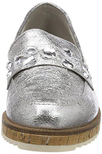 Plateado silver Marco 24730 Tozzi Para Mujer Mocasines qZ0fZFH