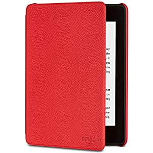 All-New Kindle Paperwhite Leather Cover (10th Generation-2018), Punch Red