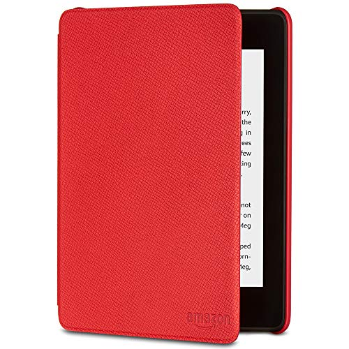 (All-New Kindle Paperwhite Leather Cover (10th Generation-2018), Punch Red)