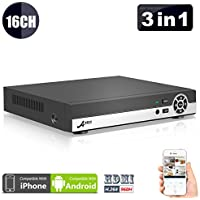 ANRAN 16 Channel 1080N AHD DVR HD Digital Video Recorder for Cctv Security Camera System Support Mobile Phone Monitoring, Motion Detection, No HDD