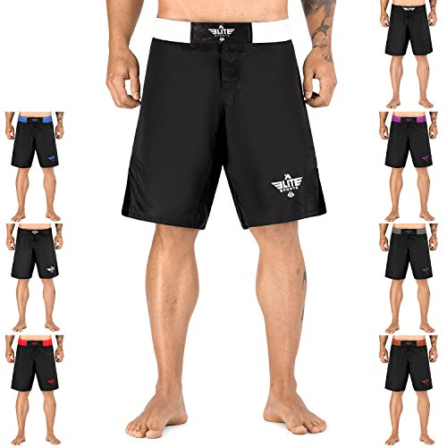 Elite Sports NEW ITEM Black Jack Series Fight - Shorts Mma White Fight