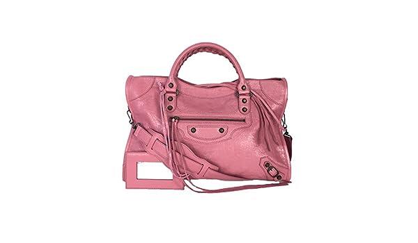 ac54aa1c7d9 Balenciaga Classic Leather City Tote Bag, Rose Hortensia: Handbags:  Amazon.com
